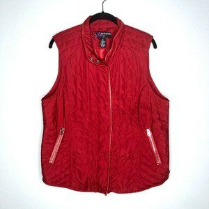 PECK & PECK Red Quilted Puffer Vest XL